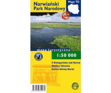 Narwiański Park Narodowy mapa laminowana