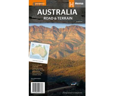 Australia Road & Terrain - Mapa