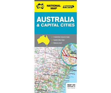 Australia & Capital Cities - Mapa