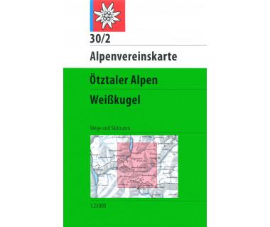 Otztaler Alpen Weisskugel - Mapa turystyczna