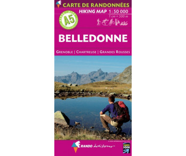 Belledonne (A5) hiking map