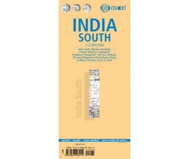 India South - Mapa laminowana