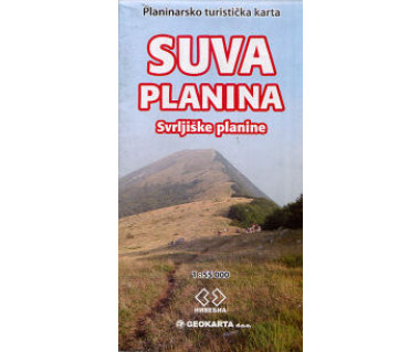 Suva Planina mountain touristic map