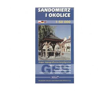 Sandomierz i okolice - Mapa