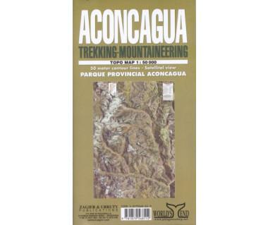 Aconcagua trekking - mountaineering - Mapa