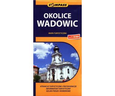 Okolice Wadowic - Mapa