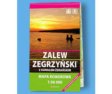Zalew Zegrzyński z Kanałem Żerań - Mapa