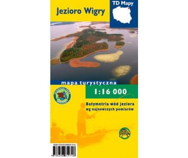 Jezioro Wigry mapa turystyczno - batymetryczna