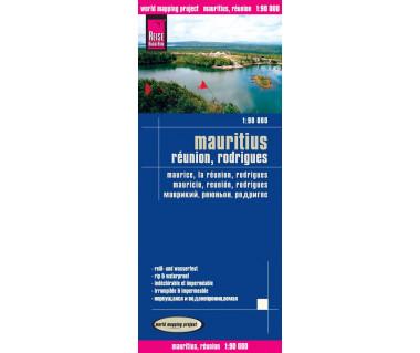 Mauritius, Reunion, Rodrigues - Mapa wodoodporna