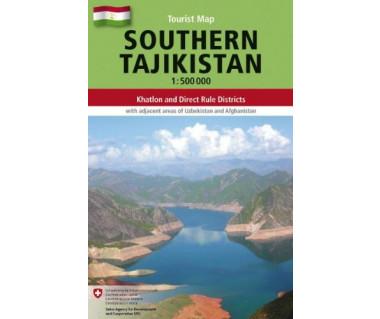 Tajikistan southern - Mapa