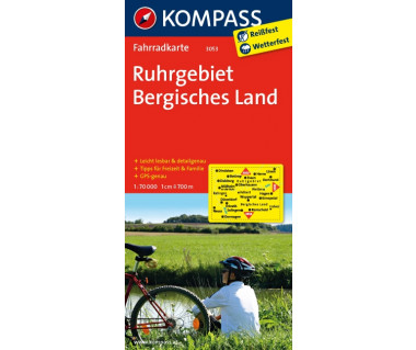 Ruhrgebiet, Bergisches Land - Mapa rowerowa