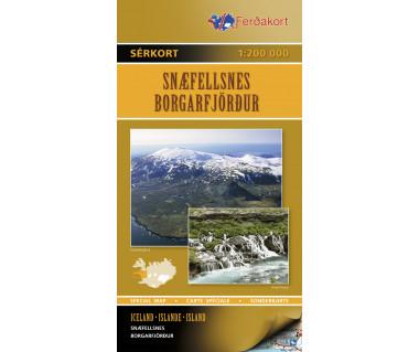 Snaefellsnes Borgarfjordur - Mapa
