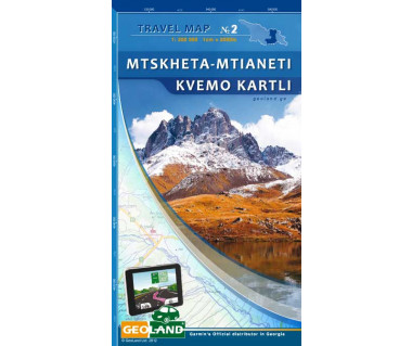 Georgia travel map (2) Mtskheta-Mtianeti Kvemo Kartli