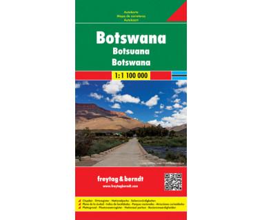 Botswana - Mapa