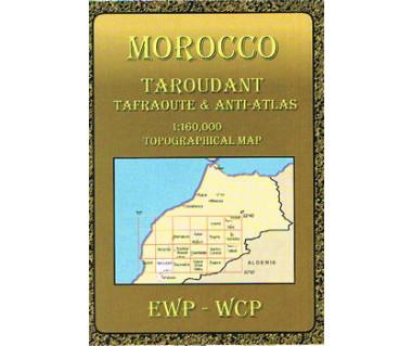 Morocco Taroudant, Tafraoute & Anti-Atlas - Mapa