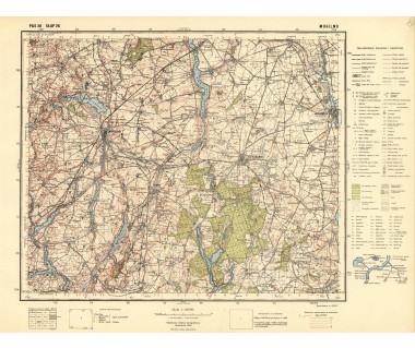 Mogilno mapa takt. ark.Pas 38 Słup 26 reed. WIG 1935 r.