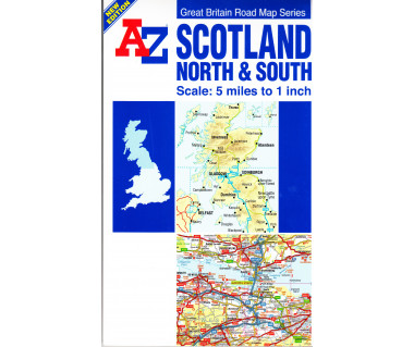 Scotland North & South Road Map