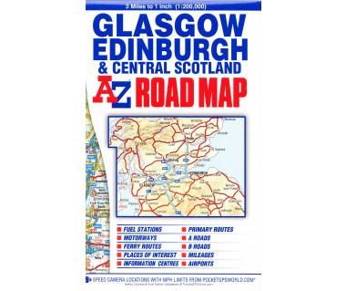Glasgow Edinburgh & Central Scotland Road Map