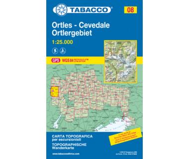 Ortles - Cevedale, Ortlergebiet - Mapa turystyczna