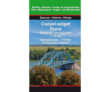Csepel-sziget Duna (Budapest - Dunaujvaros) - Mapa