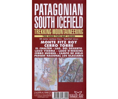Patagonian South Icefield (Monte Fitz Roy, Cerro Torre) - Mapa