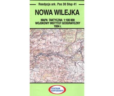 Nowa Wilejka mapa takt. ark. Pas 30 Słup 41 reed. WIG 1934r.