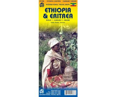 Ethiopia & Eritrea - Mapa