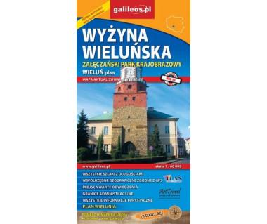 Wyżyna Wieluńska, Załęczański PK - Mapa