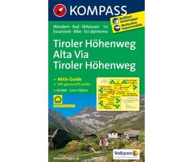 Tiroler Hohenweg, Alta Via Tiroler Hohenweg (folia) - Mapa turystyczna