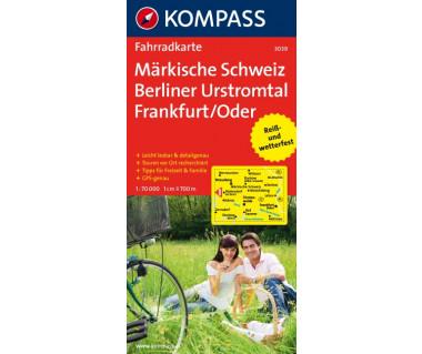 Markische Schweiz, Berliner Urstromtal, Frankfurt/Oder - Mapa