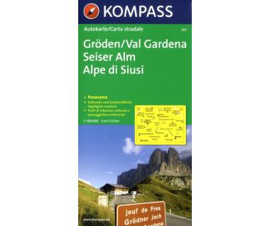 Val Gardena/Groden panorama - Mapa