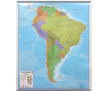 South America Map 100x120 cm