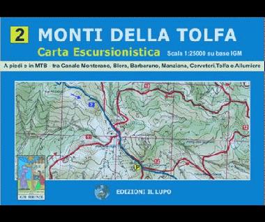 Monti della Tolfa - Mapa