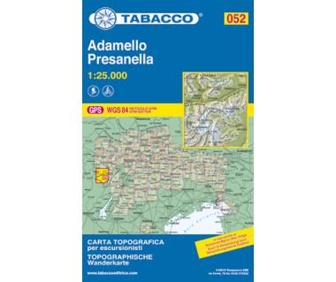 Adamello, Presanella - Mapa turystyczna