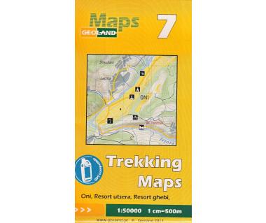 Gruzja mapa trekkingowa 7 (Oni, Resort ustera, Res. ghebi)