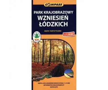 Park Krajobrazowy Wzniesień Łódzkich - Mapa