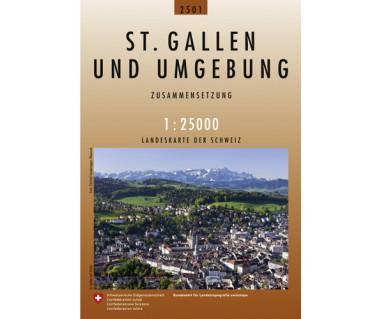 St.Gallen und Umgebung - Mapa turystyczna