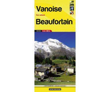 Vanoise PN, Beaufortain - Mapa turystyczna