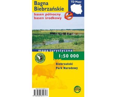 Bagna Biebrzańskie basen północny i środkowy mapa foliowana