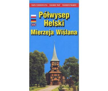 Półwysep Helski-Mierzeja Wiślana mapa turystyczna
