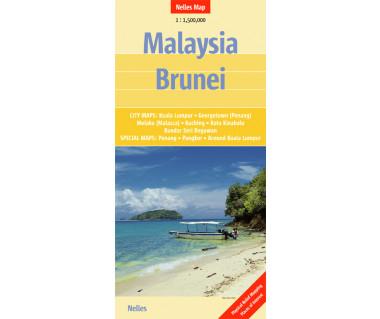 Malaysia, Brunei - Mapa