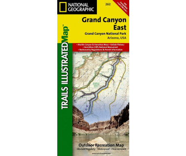 Grand Canyon East (262) - Mapa wodoodporna