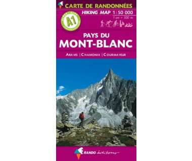 Mont-Blanc Pays du (A1) hiking map