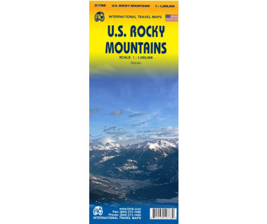 U.S. Rocky Mountains - Mapa