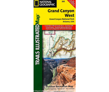 Grand Canyon West (263) - Mapa wodoodporna