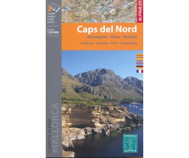 Caps del Nord - Formentor - Pinar - Ferrutx - Mapa