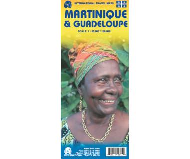 Martinique & Guadeloupe - Mapa