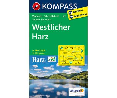 Westlicher Harz - Mapa turystyczna