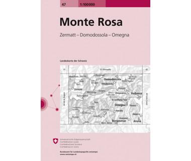 Monte Rosa - Mapa turystyczna