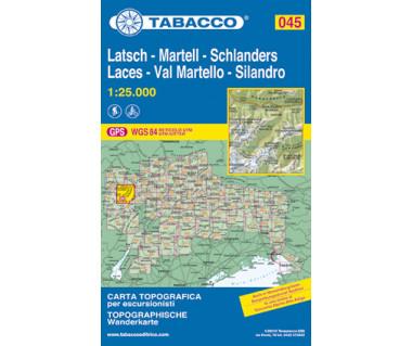 Laces, Val Martello, Silandro - Mapa turystyczna